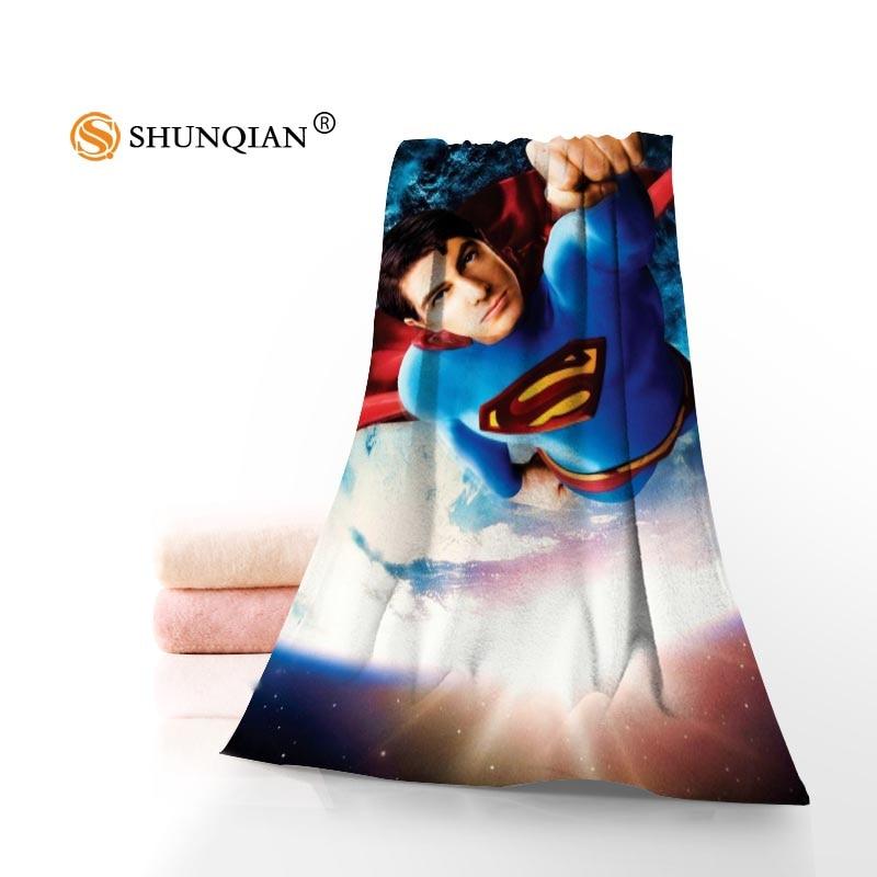Novo personalizado superman toalha de algodão impresso rosto/toalhas de banho tecido de microfibra para crianças masculino feminino toalhas de banho a8.8