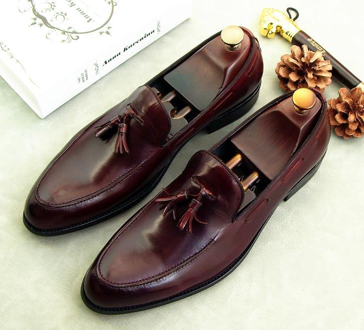Mocasines de cuero de estilo inglés para hombre, zapatos planos informales sin cordones de moda, cómodos zapatos de vestir de cuero de talla grande 38-46, envío gratis
