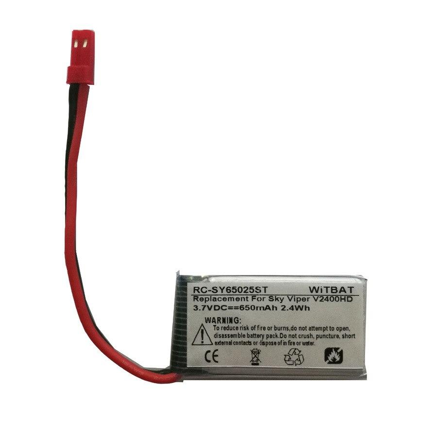 Novo 3.7 v 650 mah li-polímero bateria para sky viper v2400hd s1700 zangão bateria recarregável acumulador substituição bloco p190415