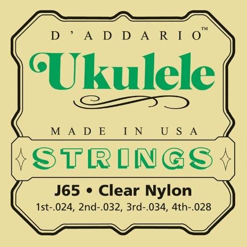 Cuerdas para ukelele de nailon claro rectificado DAddario J65