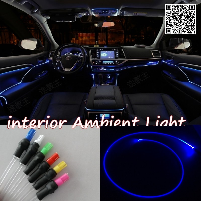 For Audi Q7 2007~2015 nterior Ambient Light Panel illumination For Car Inside Tuning Cool Strip Light Optic Fiber Band