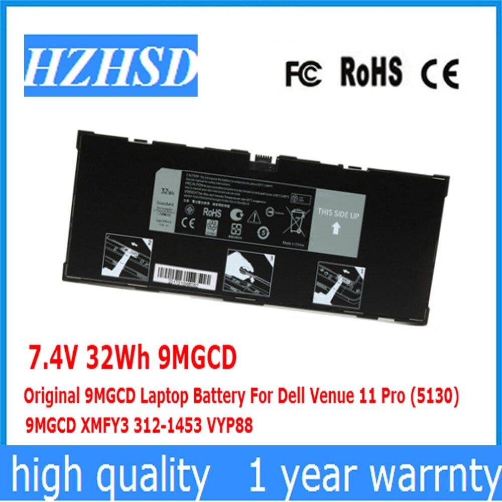7.4V 32Wh 9MGCD Original 9MGCD Laptop Battery For Dell Venue 11 Pro (5130) 9MGCD XMFY3 312-1453 VYP8