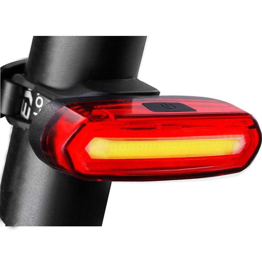 Luz de bicicleta recargable por USB, 6 modos de luz trasera, Flash...