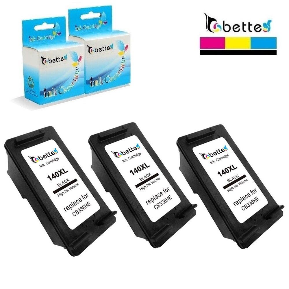 3PK, bette cartucho de tinta reemplazar para HP 140XL 140 Officejet J6415 J6424 J6450 J6480 J6488 Deskjet D4245 D4260 D4268 D4360 D4368