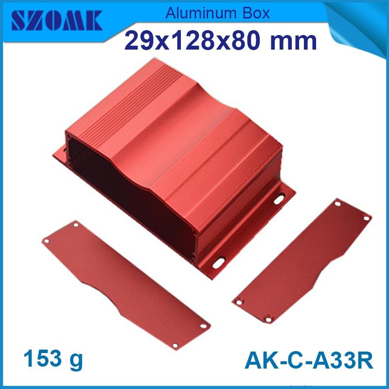 1 pieza envío gratis de recubrimiento en polvo de aluminio Caso 29 (H) x128 (W) x8 (L) cajas de aluminio de mm para caja usb electrónica