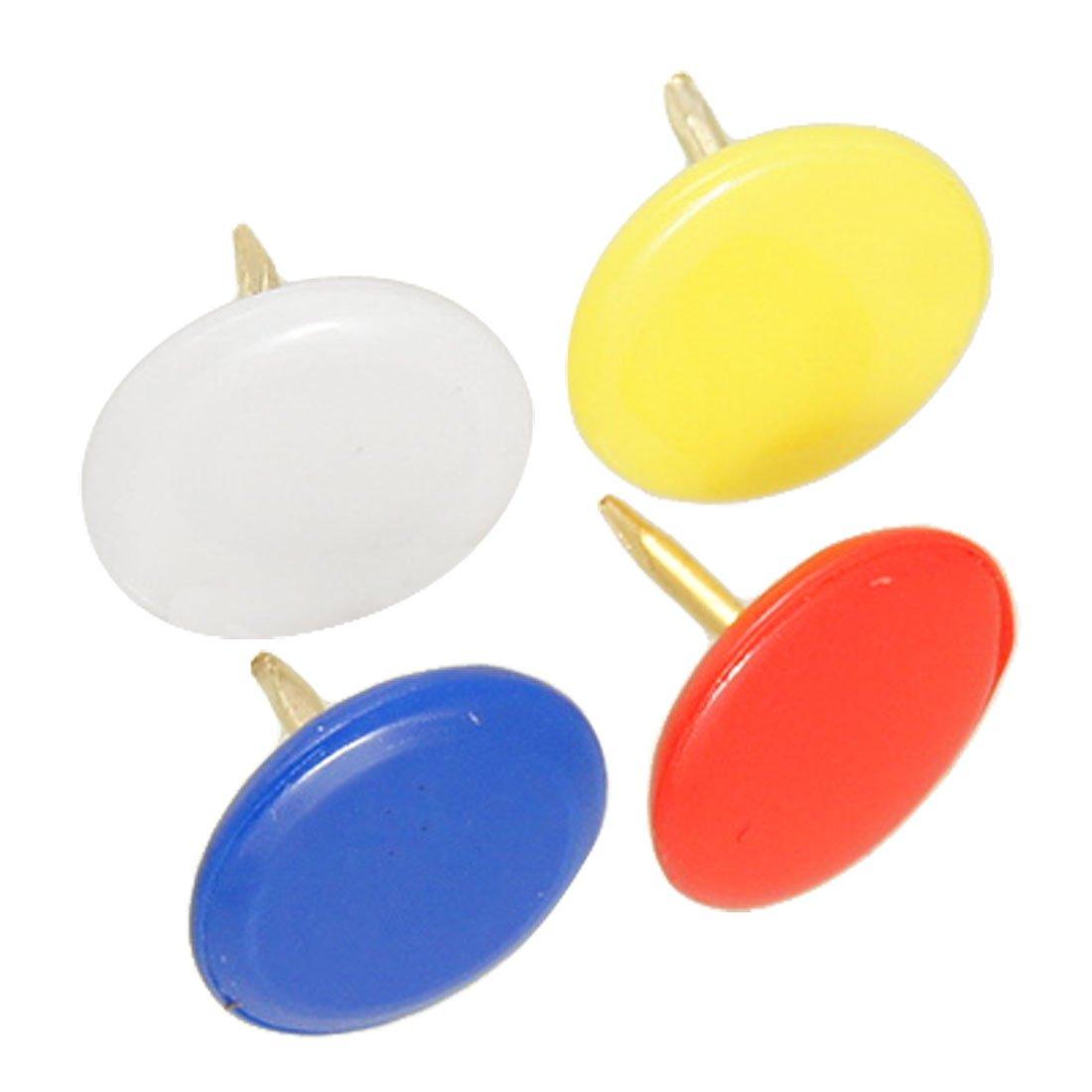 Nuevo y caliente 100 piezas 5 colores Corkboard foto Push Pins pulgar tachuelas 10mm