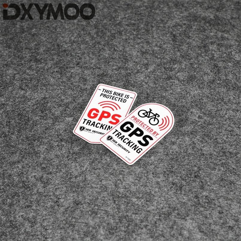 Pegatina de motocicleta bicicleta protegida por GPS TRACKER alarma de advertencia adhesivo decorativo para coche 7x4cm