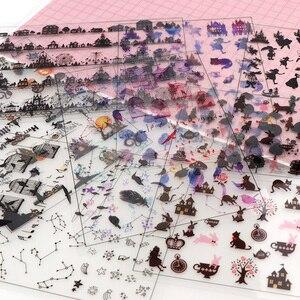 5 Pieces Of Fun DIY Transparent Stickers Album Decoration Materials Creative hand-made Works