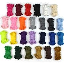 100% baumwolle Schnur 5mm Umweltfreundliche Verdreht Seil Hochfest Gewinde DIY Textil Handwerk Woven Kabel Für Home Dekoration Touw