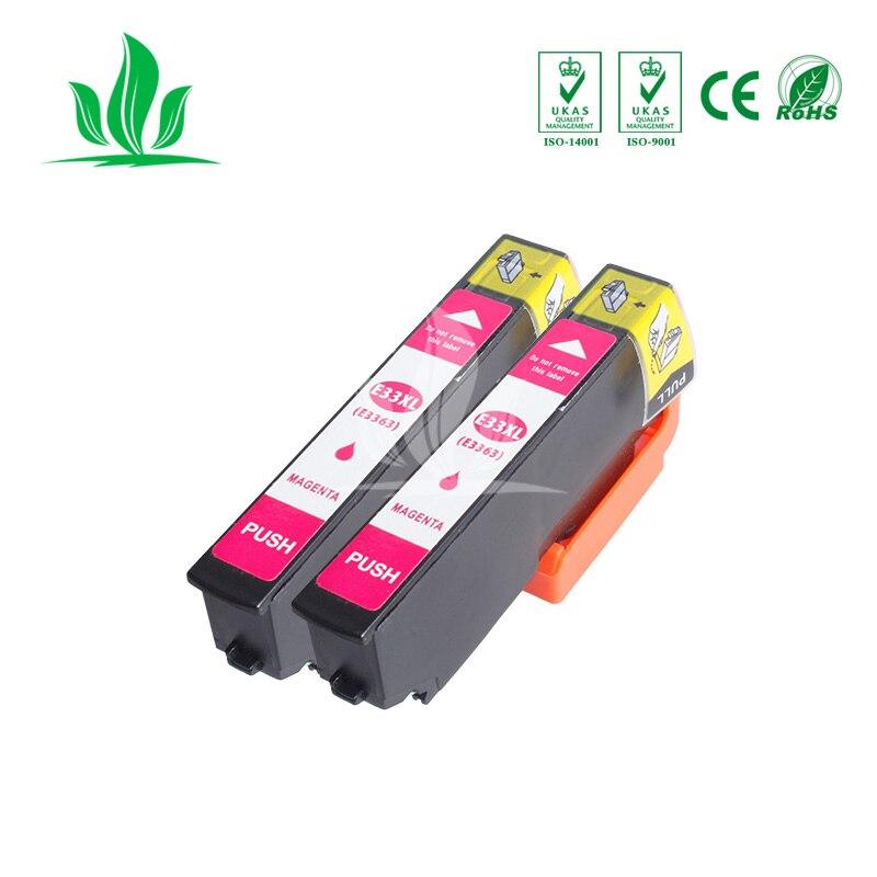 2 piezas 33XL 3351XL cartucho de tinta Compatible para Epson XP-530 XP-630 XP-830 XP-635 XP-540 XP-640 XP-645 3