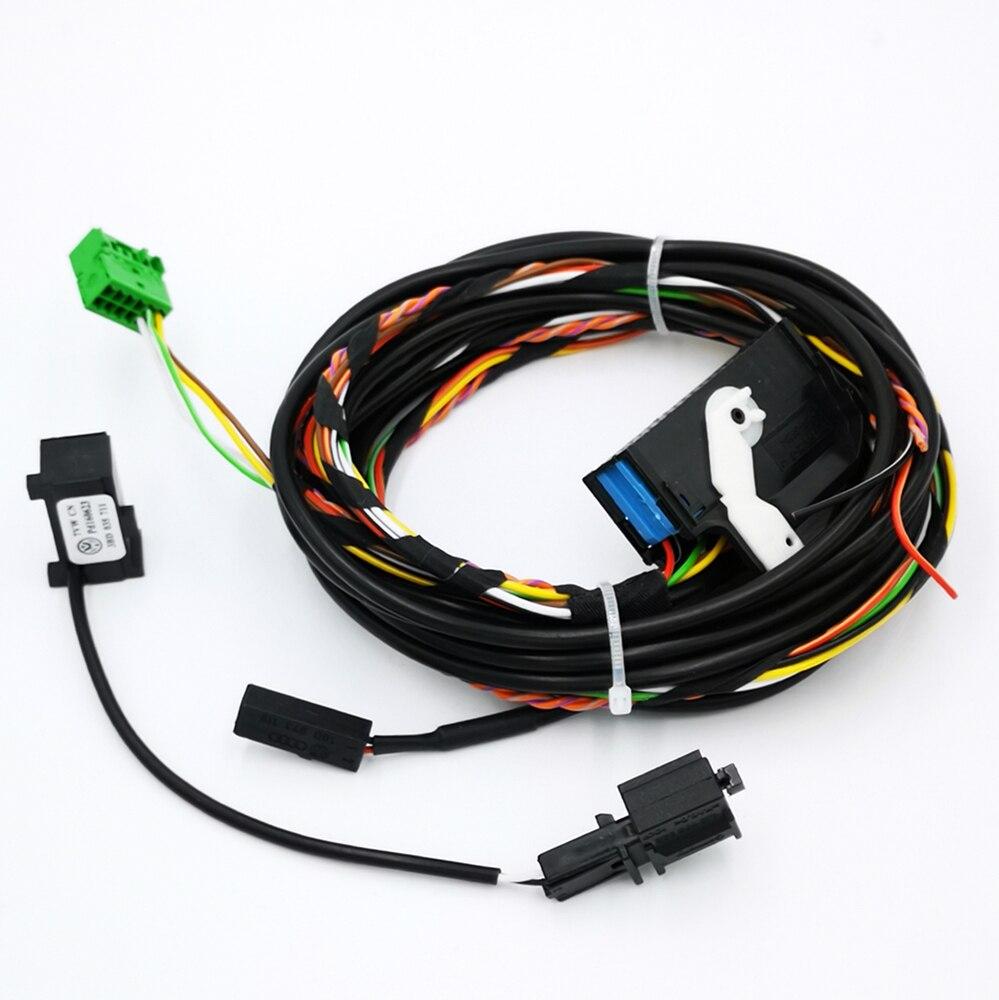 Dla VW Bluetooth kable w wiązce kabla 8X0035447A dla RCD510 RNS510 Tiguan GOLF GTI Jetta Passat CC z mikrofonem 8X0035447A