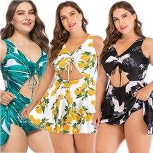 ZWEMPAK Tankini grande taille 5XL femmes une pièce imprimer grand été maillot de bain robe de bain vêtements de plage grand 3XL maillot de bain maillots de bain