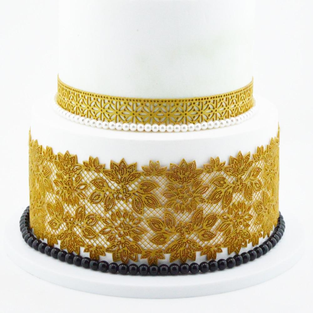 Flower Pattern Silicone Cake Lace Mat Silicone Lace Mold Fondant Cake Decorating Tools Border Decoration Lace Mold