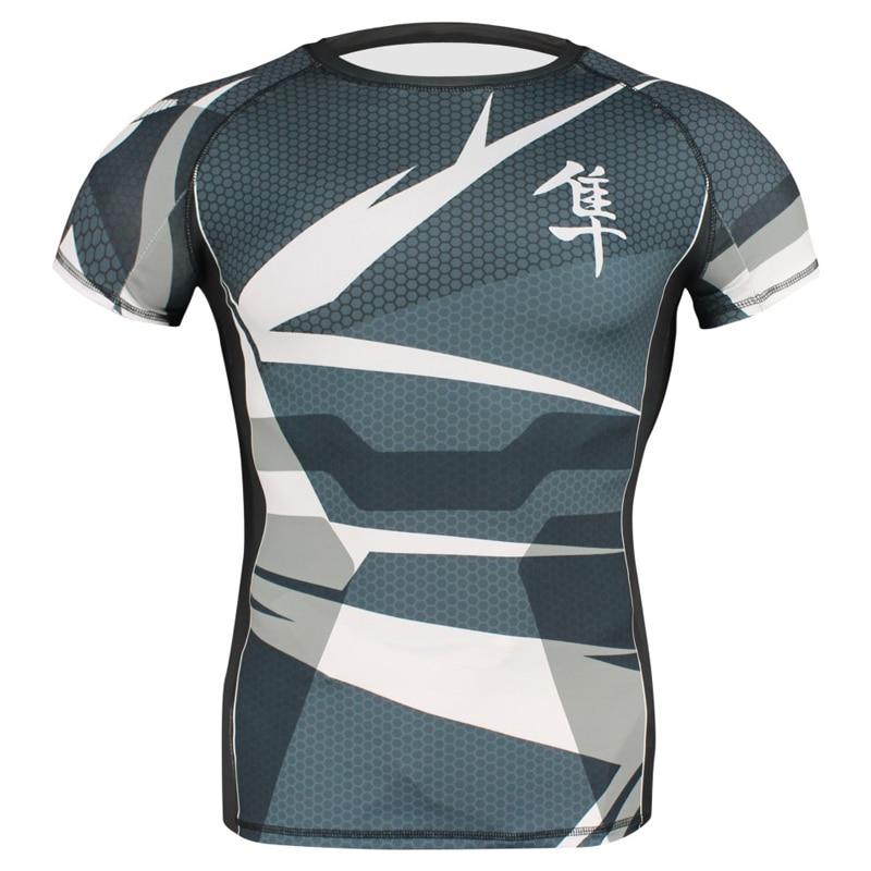 Nuevas camisetas geométricas de boxeo para pájaros grandes Tigre muay thai mma rashguard jiu jitsu sauna traje rashguard mma camiseta king boxing mma