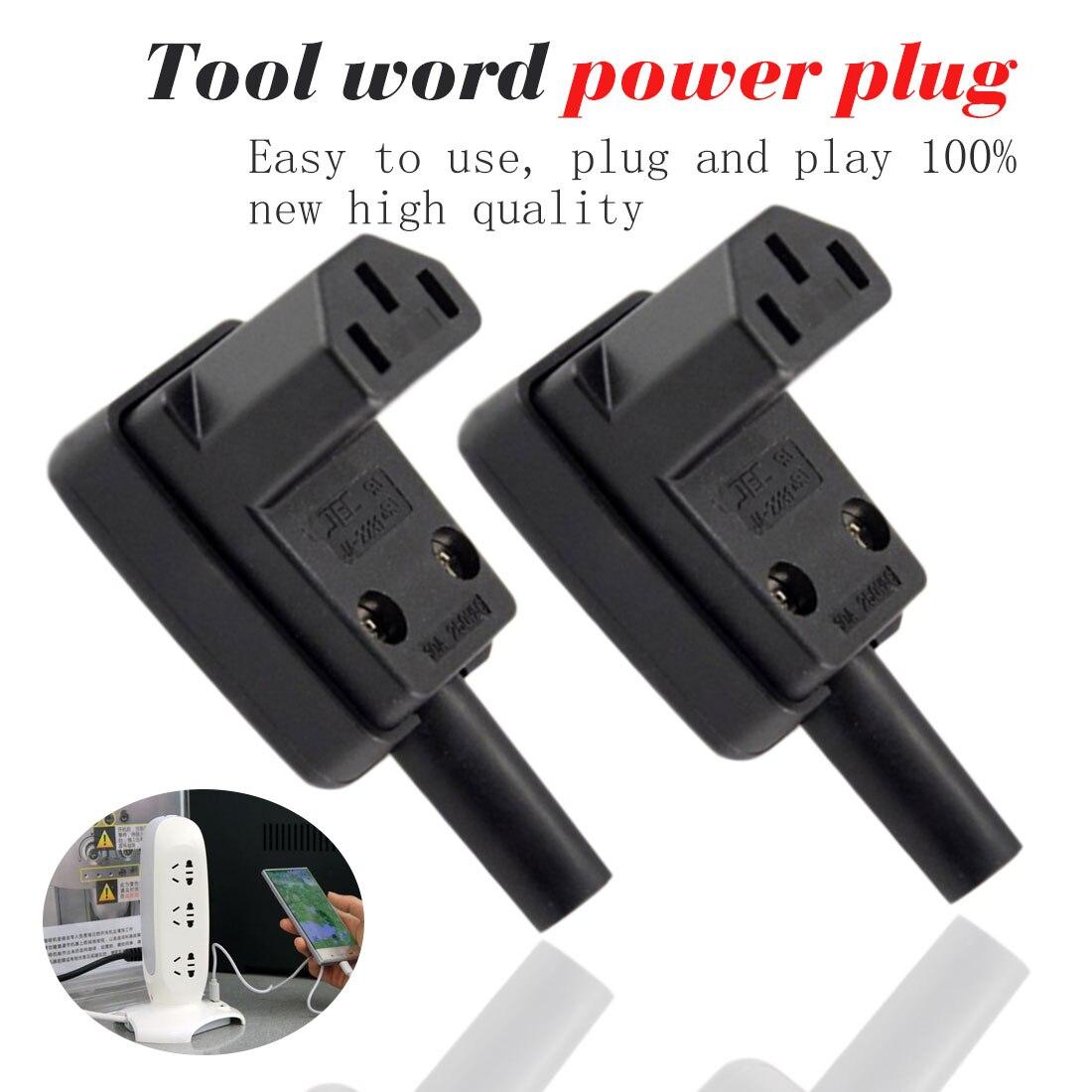 AC wtyczka zasilania pod kątem 90 stopni IEC 320 C13 wtyk żeński 3 polak AC 10A 250V przewód zasilający, kabel złącze