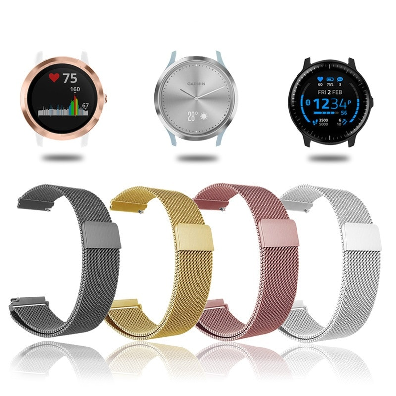 For garmin vivoactive 4 Watch Band Magnetic Strap For Garmin Vivoactive3 Accessoires/ Vivomove HR/Forerunner 645 Bracelet Wrist