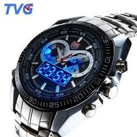 TVG Watches Men Top Brand Luxury Led Digital Analog Quartz Watch Men Sports Watches 30M Waterproof relogio masculino