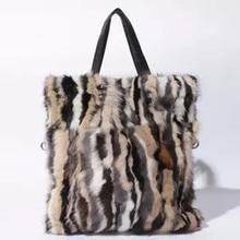 2018 New Arrival Real Fur Bags Mink Fur Women Luxury Messenger Fox Fur bag for Female Flap High Quality Ladies Crossbody Bags