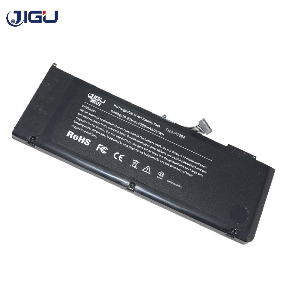 "JIGU batería del ordenador portátil para Apple MacBook Pro 15 ""A1286 Mc721 Mc723 Mc847 Md318 Md322 Md103 Md104 reemplazar A1382 77.5WH 10,95 V"