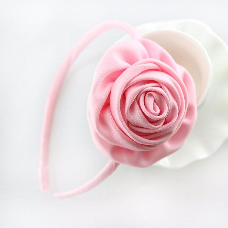 Bandeau de cheveux floraux pour filles   1 pièce, rosette de fleurs en satin, pour la tête, accessoires pour filles, coiffe de enfants/enfants, commande min 3 $