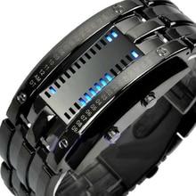 Hommes femmes créatif luxe numérique montres LED Bracelet Date binaire étanche 30m militaire électronique montre-Bracelet Relogio Mascul