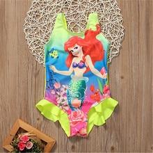 Enfants bébé filles enfant en bas âge Ariel maillot de bain maillot de bain maillot de bain Bikini ensemble de Tankini