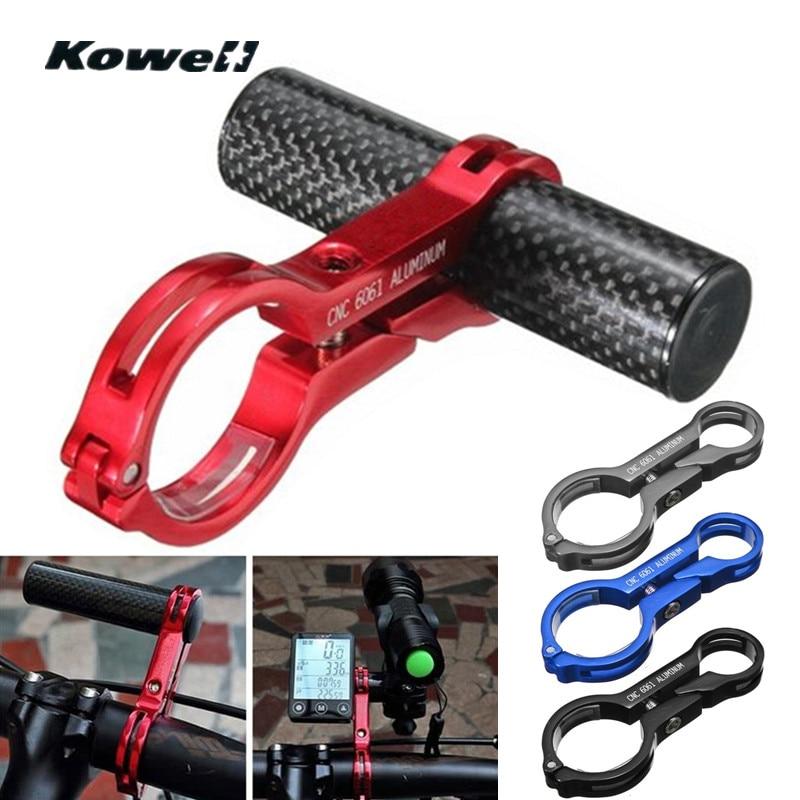 KOWELL 22MM Handlebar Extender Lamp GPS Phone Bracket Holder For Motorcycle E-Bike Bicycle Carbon fiber + CNC Aluminium Alloy