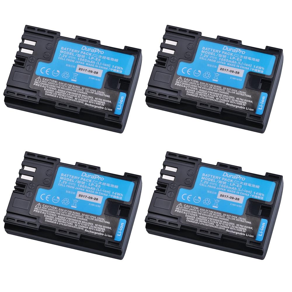 4 قطعة LP-E6 LP-E6N LP E6 كاميرا بطارية مصنوعة من اليابان خلايا لكانون LP-E6 EOS 5DS 5D مارك الثاني مارك الثالث 6D 7D 60D 60Da 70D 80D