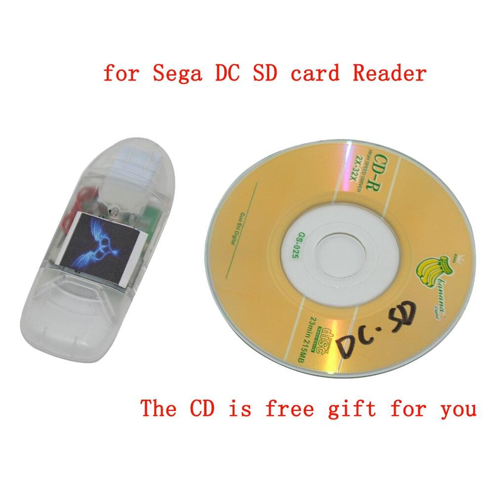 Haute qualité pour lecteur de carte SD Sega lecteur cc pour jeu Dreamcast