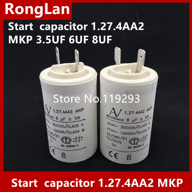 [BELLA] [New Original] ARCOTRONICS Motor inverter start  capacitor 1.27.4AA2 MKP 3.5UF 5UF 6UF 8UF