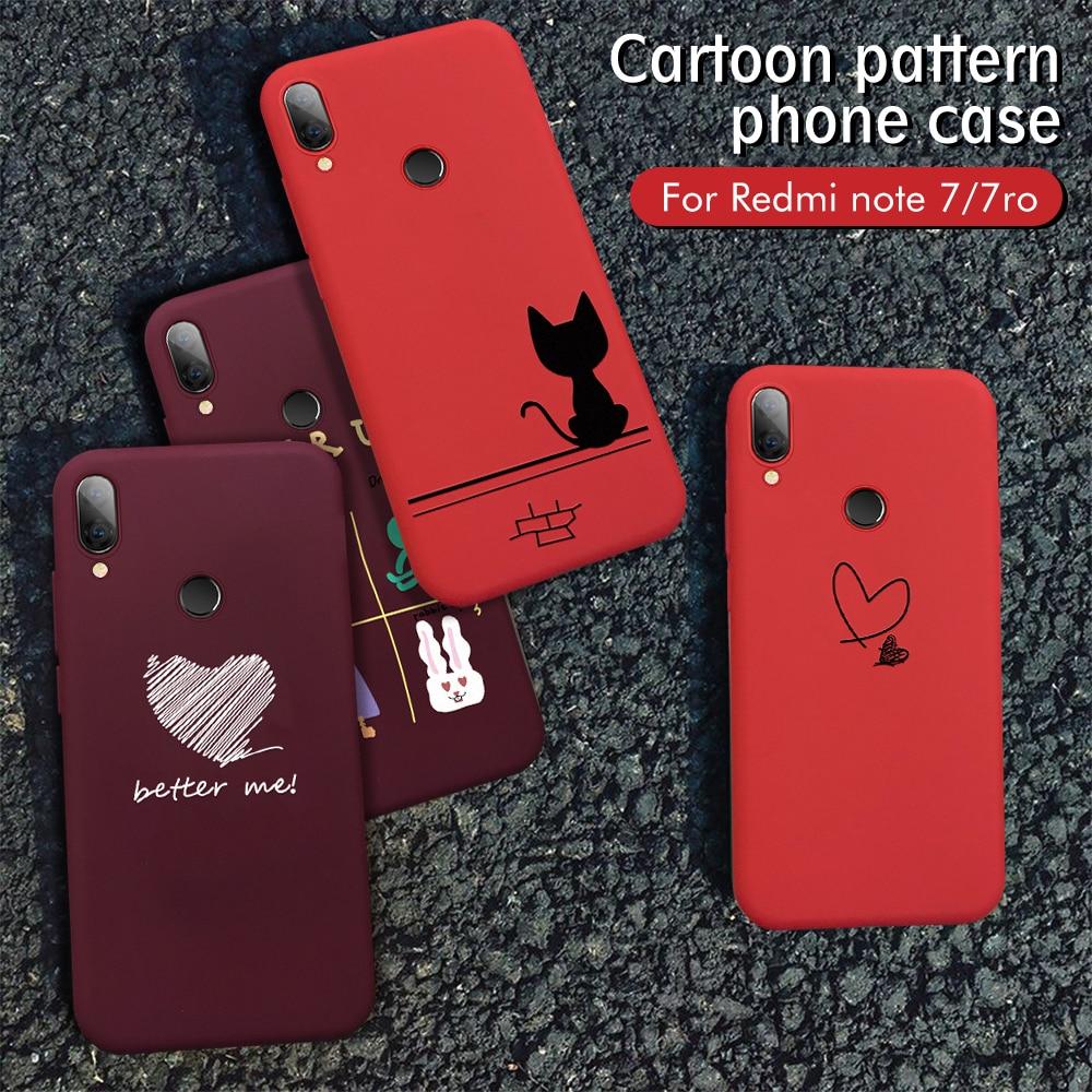 Funda de teléfono para Xiaomi rojo vino Redmi Note 7 6 5 Pro Mi9 SE Mi8 Lite Mi9T Pro A2 suave TPU cubierta para Redmi K20 Pro 7 7A 6A fundas
