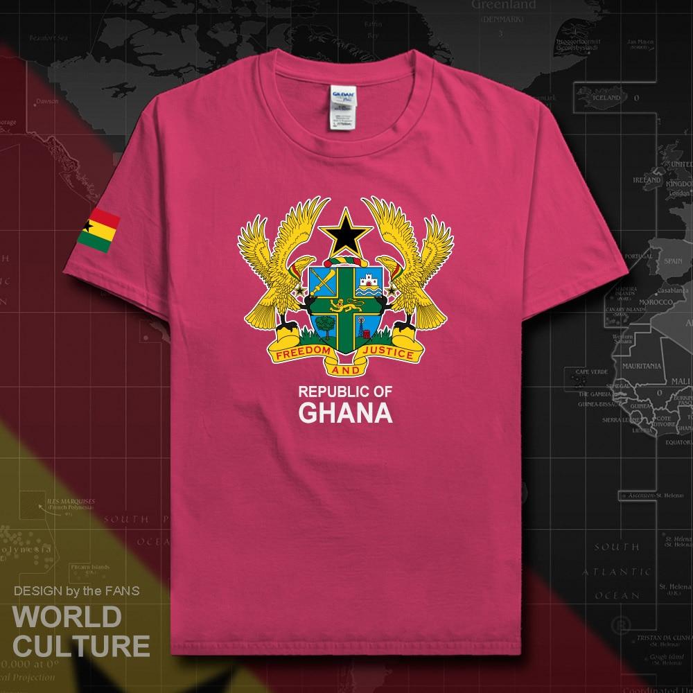 Republic of Ghana Ghanaian, camiseta para hombre, jerséis a la moda, Equipo Nacional, 100%, camisetas de algodón, camisetas deportivas para el país GHA GH 20