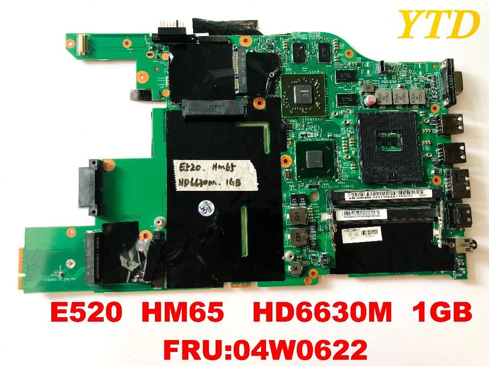 Original para Lenovo Portátil Placa-mãe 1gb Fru04w0622 Testado Bom Frete Grátis Conectores E520 Hm65 Hd6630m