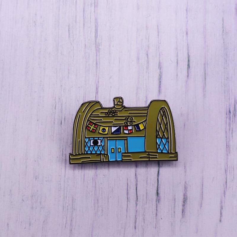Pin esmaltado personalizado Krusty Krab Restaurant Bob Esponja