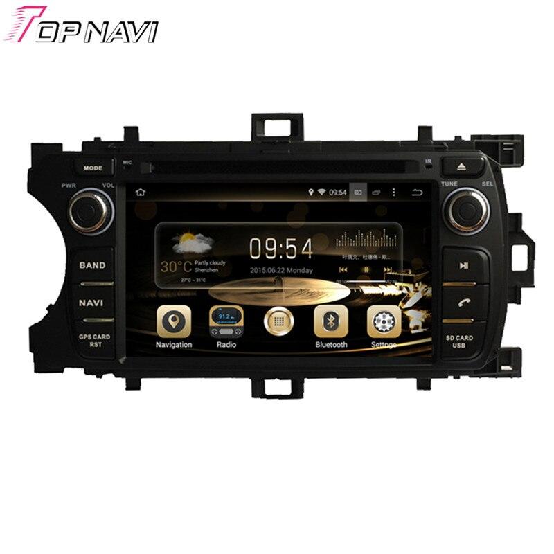 """TOPNAVI 6,2 """"Quad Core Android 6,0 GPS para coche de navegación para TOYOTA YARIS 2011-Autoradio DVD Multimedia audio estéreo"""