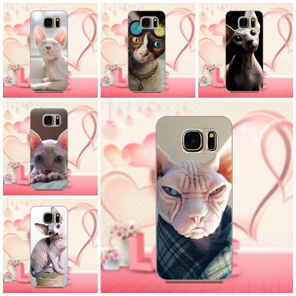 Oedmeb gato Kitty suave cáscara del teléfono celular para Samsung Galaxy A3 A5 A7 J1 J3 J5 J7 2016 2017 S5 S6 S7 S8 S9 edge Plus