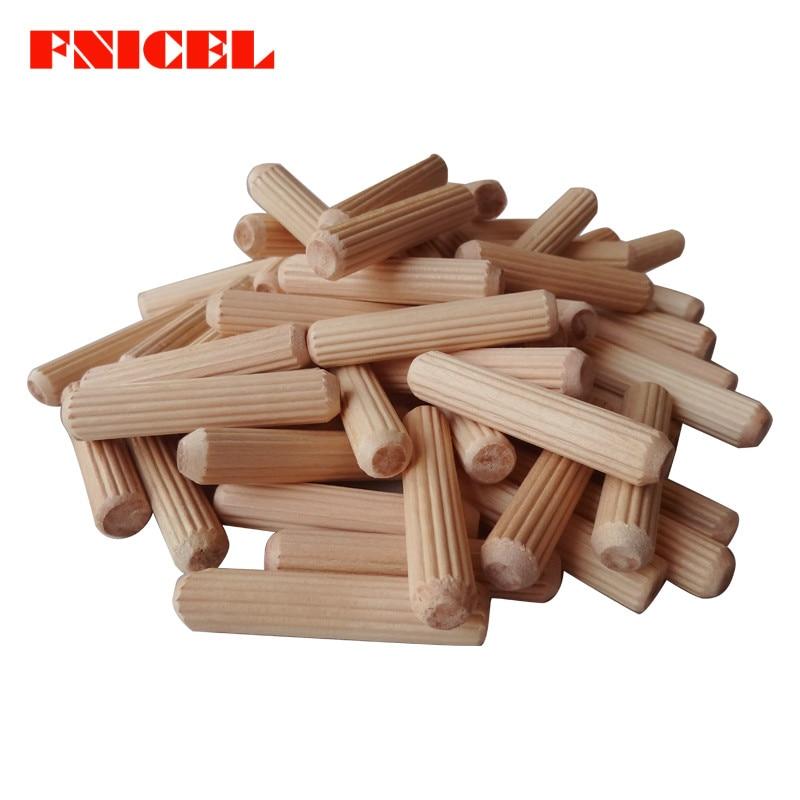 100 шт. M6/M8 деревянный игольчатый болт круглый плот пробкового твила деревянные гвозди клиновидный деревянный вал соединитель 30 мм-80 мм длина