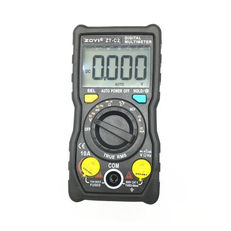 Multímetro Digital temperatura Auto-rango verdadero-RMS inteligente NCV 4000 cuentas corriente de voltaje CA/CC 40 M ohm ZT-C1 ZT-C2