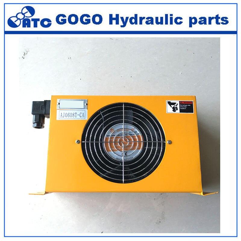 Unidad enfriadora de aceite refrigerada por aire hidráulica AH0608 condensador intercambiador de calor de aluminio