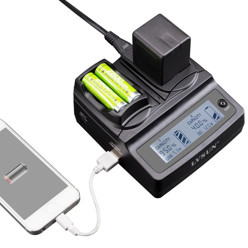 Lvsun universal telefon + aa + kamera auto/ac dmw-bmb9e dmw bmb9e bmb9 ladegerät adapter für panasonic lumix dmc fz40 fz45 fz100 fz47 dmc