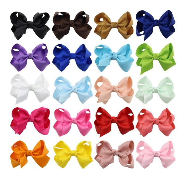 Venta hogar cálido Color sólido cinta cabellos de niños Clips Boutique horquillas accesorios para el cabello gorros hechos a mano rosa azul amarillo