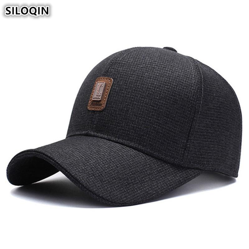Мужские хлопковые бейсболки Snapback SILOQIN, спортивные бейсболки с регулируемым размером, 2019