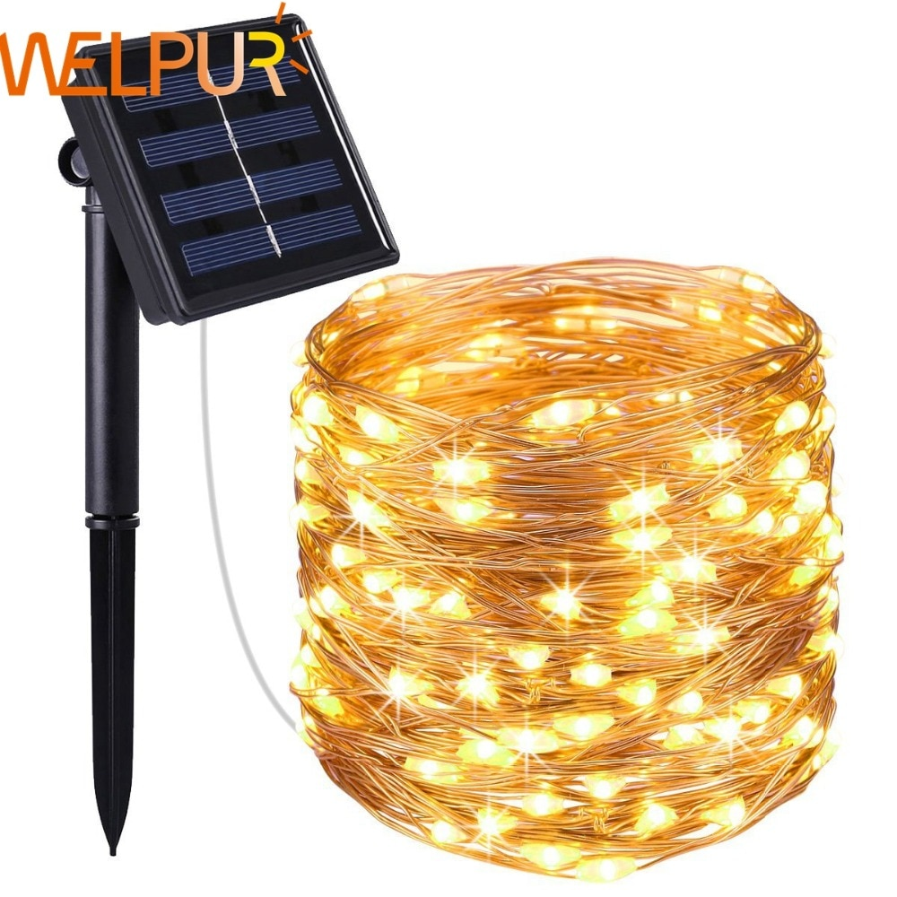 New year Solar Lamp LED Outdoor 12m/7m LED String Lights Fairy Holiday Christmas Party Garlands Sola