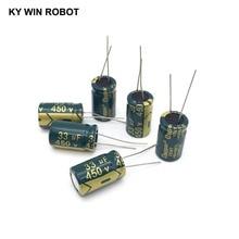 10 pièces En Aluminium électrolytique condensateur 33 uF 450 V 13*20mm frekuensi tinggi Électrolytique Radial kapasitor