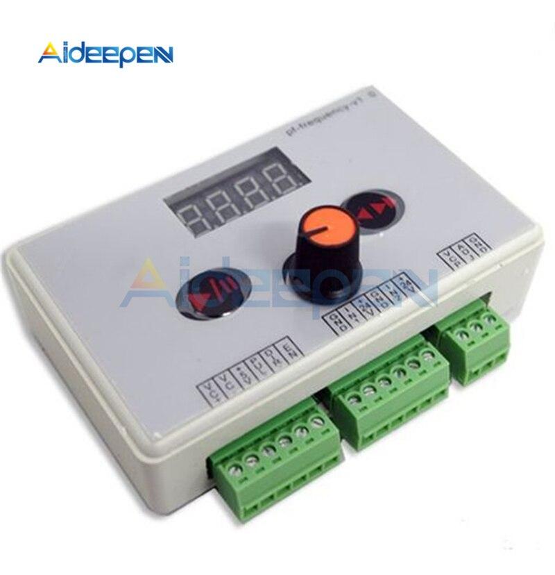 محرك متدرج عكسي 7.5 فولت-24 فولت تيار مستمر ، وحدة تحكم في سرعة المحرك ، منظم سرعة المحرك ، وحدة تحكم إشارة النبض ، شاشة LED