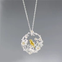 meyrroyu new 925 sterling silver canary pendant necklace sexy clavicle chain lady engagement fashion jewelry gift 2021