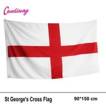 Drapeau de langleterre   Banderole nationale anglaise 3x5 ft St George croix rouge blanc, Festival du défilé du Saint, décoration pour maison, à la mode