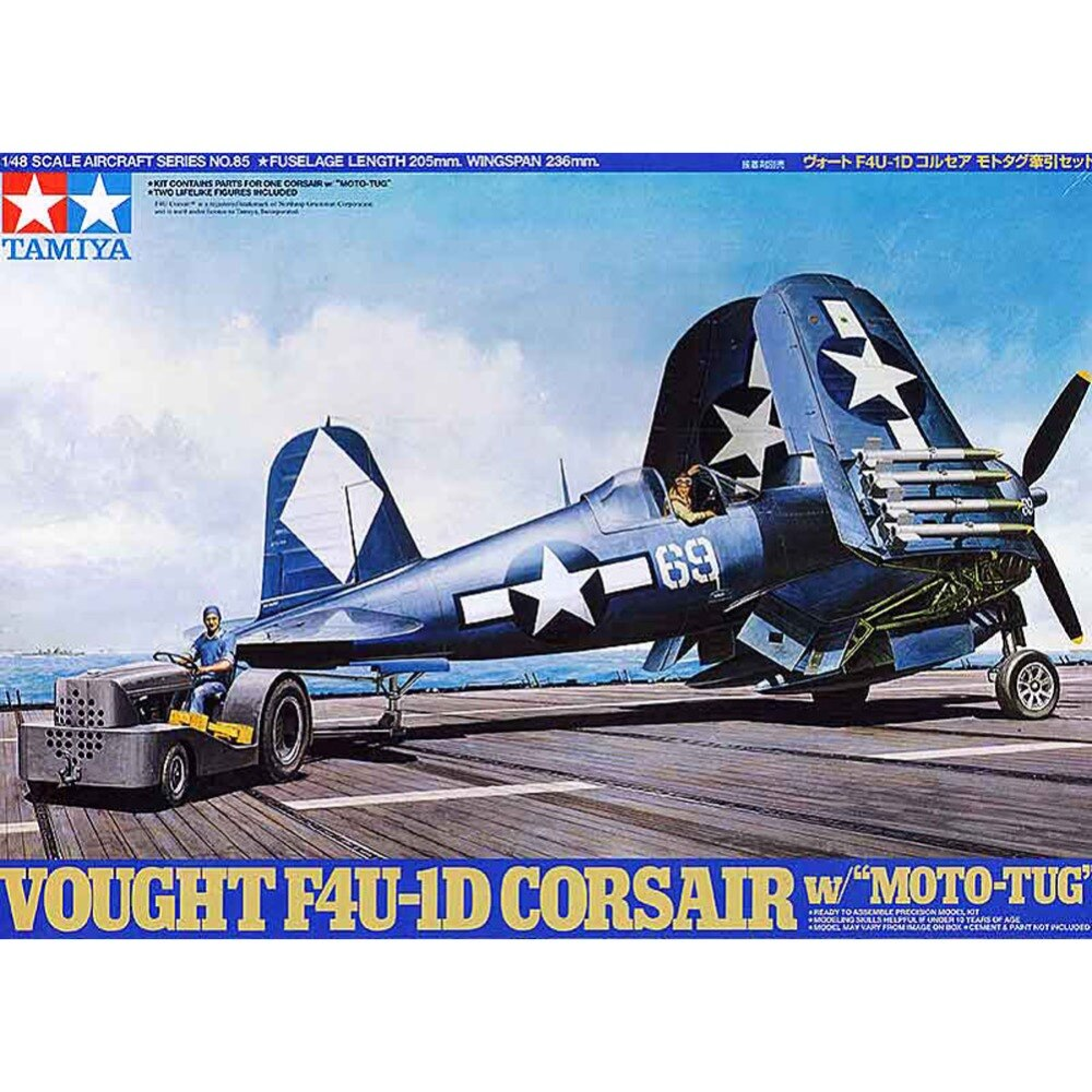 Salud Tamiya 61085 1/48 Vought F4U-1D Corsair w/Moto-Tug de la Asamblea de la Fuerza Aérea modelo Kits de construcción de G