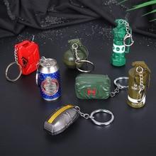 Juego PUBG escombros Flash bomba arma modelo Cosplay disfraz mochila Pan paquete médico modelo llavero PUBG arma juguete