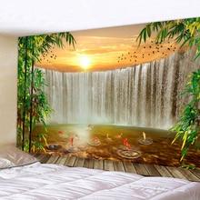 Tapisserie murale décoration murale   Cascade, paysage, tenture murale, tapisseries décoratives murales, décoration pour la maison, tapisserie style Boho Hippie L59in